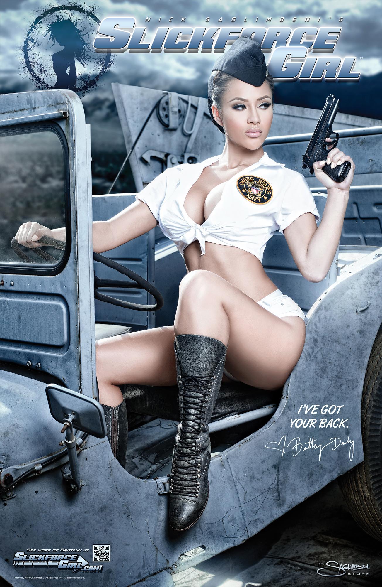 New Military Guns >> SlickforceGirl-Commander-Brittany-Pinup   Slickforce Studio