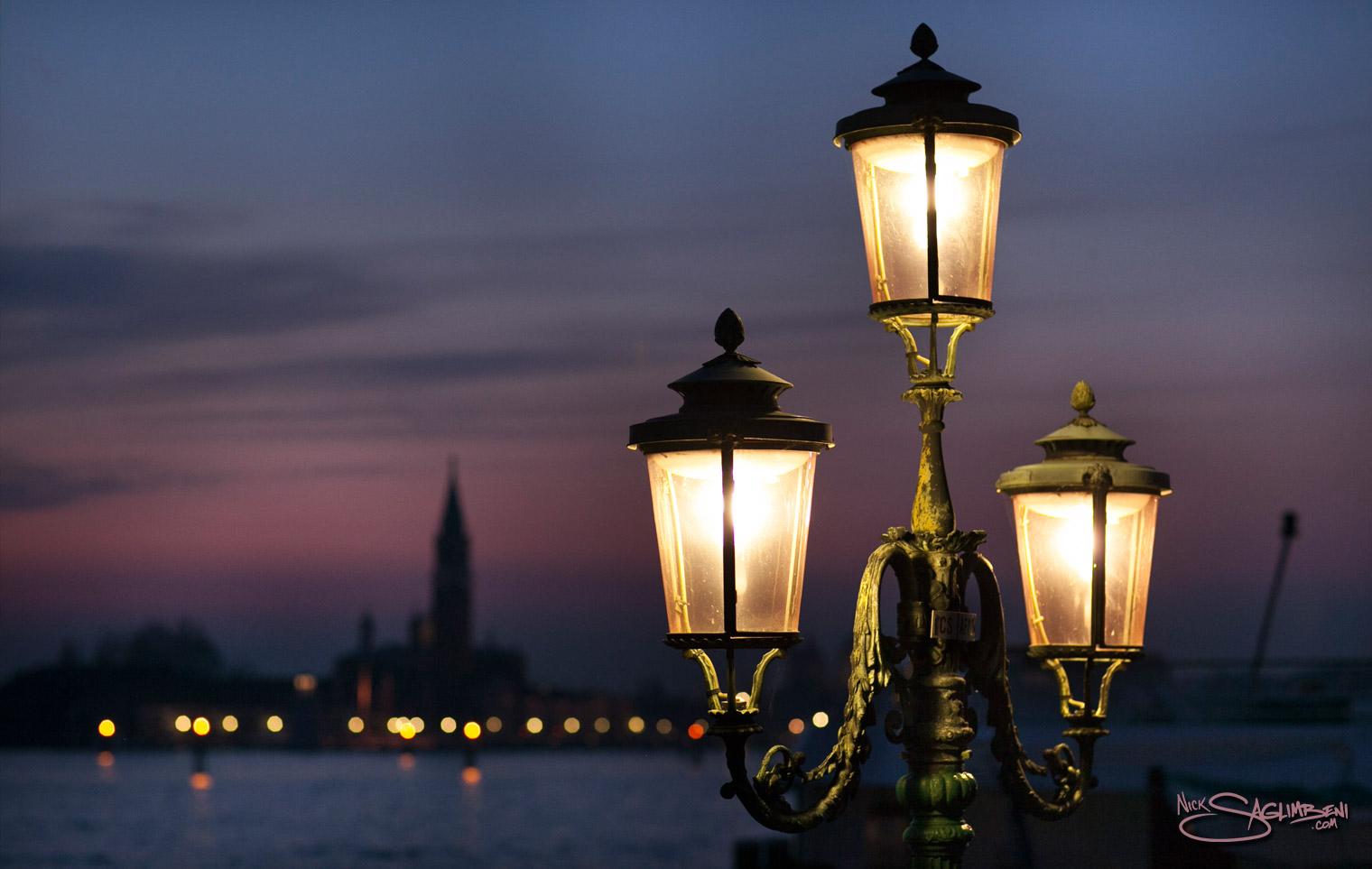 Venice Italy Venezia Saint St Marks Cathedral Street Lamps